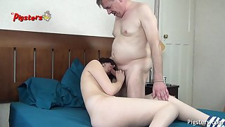 Exciting Old Camera Man Makes 18 Years Old Whittle Cum