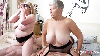 AgedLovE Busty British Matures Abiding Group Sex