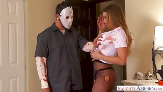 Horny covered robber is startled as he gets a nice blowjob immigrant Britney Amber