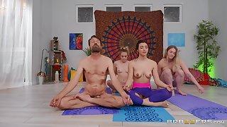Sensual Yoga task porn scenes after this cookie sucks dick