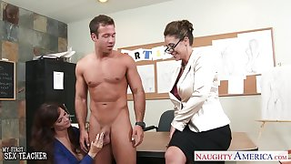 Art teacher and her student fuck handsome nude chip divide up Chad White