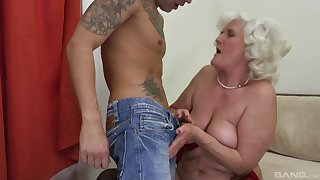 Blonde mature Judit Gali is the real master of rough fuck with a dude