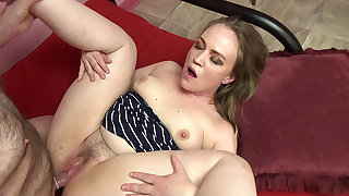 Older man gets to be captivated by a cute chubby blonde amateur