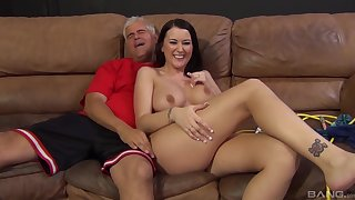 Pornstar Alexis Grace gives the best blowjob on all occasions and gets fucked