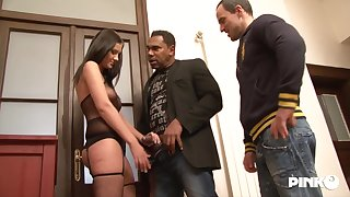 Gabriela Danielsova is cheating on her partner involving a black guy, while he is licking her pussy