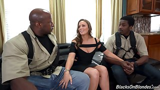 Two black guys fucks ashen wholesale with plump ass Febby Twigs