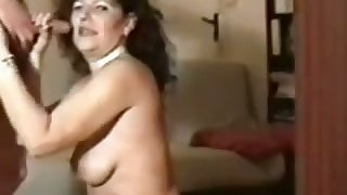 Perverted mature hooker more black stockings is ergo into sucking dick
